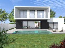 Modern newly built villa with 4 bedrooms, mooring of 19 m on the main canal and garage